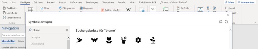 Blumen-Symbole für Word: So fügen Sie sie ein